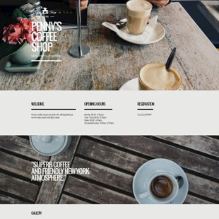 Coffee shop websites